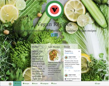 vegan recipes site développé full-stack MEAN